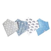 ingrosso bandanas del neonato-Morbidi 4Pcs Bavaglini per bambini per BoyGirl Burp Cloths Impermeabili Dribble Bibs Bandane Baby Love