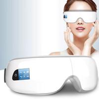 Wholesale health glasses - 2 Colors Electric Eye Massager Mask Migraine Eye Vision Improvement Forehead Eye Care Glasses Massager Health Care Tools 30