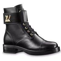 ingrosso tacco piatto merletti in su stivali-ULTIME donne di marca WONDERLAND RANGER Lace-up Boot Designer Lady in pelle smaltata Tacco piatto in gomma stivali con scatola