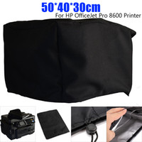 20x16x12'' Polyester-cotton Blend Dust Cover for OfficeJet Pro 8600 Printer Chair Table Cloth Black Outer Silver-grey Lining