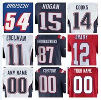 Wholesale new england football jersey - american football jerseys Derek Rivers Devin McCourty Danny Amendola Brandin Cooks color rush New England Tom Brady Patriots jersey youth
