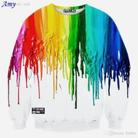 colour hoodie Canada - Wholesale-[Amy] 2015 Hot model Europe and America Popular 7 colour pigment printing 3D sweatshirts Men hoodies casual sweatshirt WY29