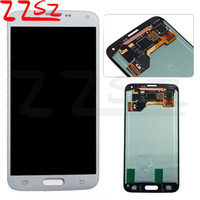 Wholesale tft lcd screen display panel - TFT brightness adjustable For Samsung Galaxy S5 i9600 G900F G900H G900M G900 Touch LCD Screen display Digitizer Replacement free shipping