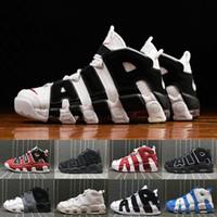 a3 qualität großhandel-(Mit box) Hohe Qualität Mehr Uptempo 3 Mt Scottie Pippen Männer Basketball Schuhe Dreibettzimmer Black Bulls Olympischen Gold Sport Turnschuhe US Größe 8-13