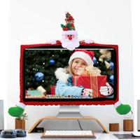ingrosso decorazioni di bordi-1PC Computer LCD Monitor Bordo Bordo Schermo Protezione per il bordo Decorazioni di Natale per la casa Festival Parrty Supplies Y18102909