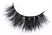natural false eyelashes toptan satış-JIEFUXIN Vizon Kirpiklere 3D Vizon Sahte Kirpikler Uzun Ömürlü Lashes Doğal Hafif Vizon Kirpik 1 çift Ambalaj JFX-H38