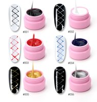 Wholesale lacquered painting for sale - Group buy Wire Drawing Nail Gel Lacquer Painting Gel Varnish Pulling Silk Spider Creative Phototherapy Nail Art Gel Nail Polish