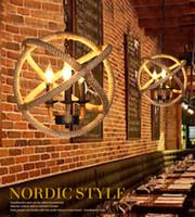 loja de roupas de escritório venda por atacado-Loft pingente lâmpada de iluminação de decoração de interiores vento Nordic escritório Nordic escritório industrial loja de roupas bola de corda levou lustre