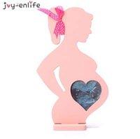 baby foto voll großhandel-1 stücke holzrahmen für schwangere frauen geschenk bilderrahmen Foto baby bilderrahmen schaukel sets baby vollmond Rahmen Dekoration