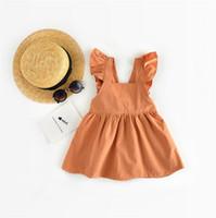 Wholesale Soft Cotton Baby Dresses - Nicoevaropa New Fashion Baby Girls Dresses Toddler Kids Cute Soft Vintage Ruffle Cotton Dresses Princess Newborn Dress B11
