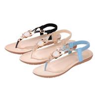 ingrosso fiori in rilievo in vendita-2108.5.summer nuove scarpe da donna piatte perline femminili scarpe da studente indossano pantofole da donna di moda resort località balneare