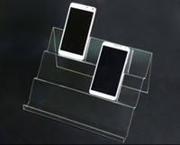 Wholesale standing purse rack for sale - 5pcs Long Shelf Acrylic Mobile Cell Phone display stand digital products purse Cosmetic holder Universal Mobile Phones display rack