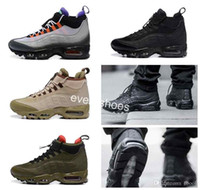 Wholesale mens low ankle shoes online - 2018 Air Men casual Running shoes Waterproof Boots s chaussures High Top designer trainers Ankle Sports Mens Maxes Sneakers