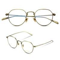 ingrosso occhiali sottili-Montatura vintage in titanio Polygo Pure di alta qualità ultra-sottile Occhiali da vista ottici per montature da vista Oliver OV1176