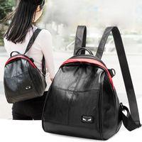 Wholesale little girl art - 3 Styles Travel Backpack Devil Eyes Bag Leather Little Monster School Backpack For Teenager Girl Free DHL G154L