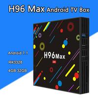 Wholesale Max Loads - H96 MAX H2 Android 7.1 TV Box 4GB 32GB RK3328 Quad Core KD 17.3 Loaded Smart TV Boxes 2.4G 5G WiFi 4K Bluetooth USB 3.0 VS H96 PRO
