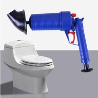 Wholesale toilet drain cleaners online - Toilets High Pressure Air Drain Blaster Cleaner ABS Plastic Drain Cleaner Clogged Pipes and Drains Differents Size Adaptor OOA4835