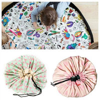 Wholesale toy beans for kids for sale - 135CM Portable Kids Toy Drawstring Storage Bean Bag Organizer Container for DIY Graffiti Doodling Mat Children Learn Painting AAA709