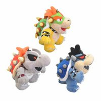 Wholesale bowser soft toys resale online - Hot New Styles quot CM Super Mario Bros Dark Dry Bowser Plush Doll Anime Collectible Dolls Keychains Pendants Stuffed Gifts Soft Toys