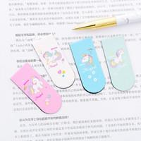 ingrosso carta magica-Magical Unicorn Segnalibri magnetici Libro Marker di Page Paper Clip School Forniture per ufficio Forniture per ufficio