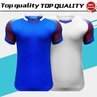 Wholesale island shirts - 2018 World Cup Iceland Home Blue Soccer Jersey 2018 Iceland Away White Soccer Shirt Island Football Uniform Sales