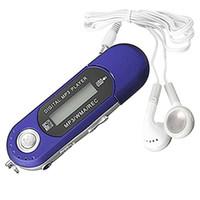 usb flash drive vermelho venda por atacado-Top Ofertas 8 GB USB 2.0 Flash Drive LCD Mini MP3 Player de Música com Gravador de Voz de Rádio FM (Azul / Vermelho)