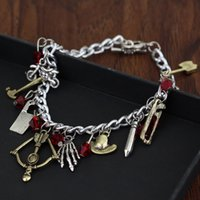 Wholesale hammered bracelet - The Walking Dead Jewelry Collection Bronze Charms Arrow Motorbike Hammer Saw Charm Bracelet Cuffs Bangle for Women Fashion Jewelry Drop ship