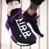 Wholesale moon candies - Shop Pharrell Hu Holi BC - Human Race Shoes Trail Sneakers Blank Canvas Equality Cotton Candy Moon Cloudes Size 13 Men Basketball Women