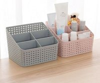 Wholesale organizer plastic storage drawers - Makeup Organizer Storage Box Desk Office Organizer Cosmetics Skin Care Plastic Storage Drawer Jewelry Box Drop Shipping