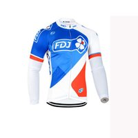 Wholesale cycling jerseys bib pants for sale - FDJ team Cycling long Sleeves jersey bib pants sets men s bicycle clothing Quick Dry Comfortable U42431