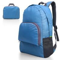 ingrosso zaino universitario blu-Zaino portatile ultraleggero Zaino pieghevole da viaggio durevole pieghevole Daypack per donna / uomo (blu) Carica 20L