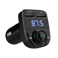 бесплатные электронные карты оптовых-HY-82 автомобильный MP3 Bluetooth громкой связи плагин карты без потерь двойной USB автомобильное зарядное устройство FM передатчики электроника аксессуары C