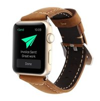 Wholesale Genuine Apple Accessories - New design vintage genuine cow leather watchbands watch accessory bracelet for apple watch band 42mm 38mm for iwatch series 1 2 3