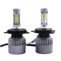 Wholesale h4 led high low beam - 2Pcs LED Headlight 72W kit 8000LM kit H4 High Low Beam H7 9005 9006 HB4 COB S2 Auto Car Light All In One Automobile Lamp 6500K