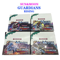 Wholesale Sun Moon Guardians Rising Card Cartoon Anime Trading Playing English Cards Game BURNING SHADOWS ANCIENT ORIGINS ULTRA PRISM Black White