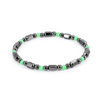Wholesale wholesale magnetic clasps for jewelry - Magnetic Black Gallstone Bracelet Fashion Healing Natural Hematite Beads Elasticity Rope Bracelets For Women Man Jewelry