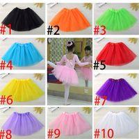 Wholesale wholesale mesh skirts - Foreign trade children's skirt girl tutu skirt manufacturers wholesale Ballet dance children's three layer mesh skirt