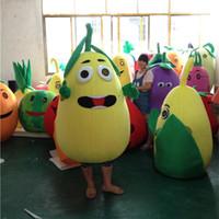 melancia do fruto dos desenhos animados venda por atacado-2018 de alta qualidade quente adulto tamanho frutas pera melancia mascot costume halloween natal dos desenhos animados fruit carnaval dress