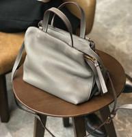 Wholesale vintage leather doctors bag - Vintage Fashion Classic Doctor bag Genuine leather bag Famous Brand designer women handbags High quality ladies real leather bag