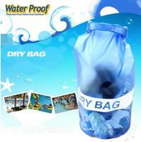 Wholesale big waterproof bag - 10L Waterproof Storage Dry Bag Outdoor Swimming Sports Big Capicity Capable Unisex PVC Hot Sale LJJN38