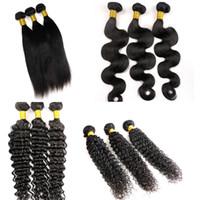 Wholesale vrigin hair resale online - Unprocessed Virgin Brazilian Hair Bundles Human Hair Weaves Wefts Vrigin Indian Malaysian Peruvian Mongolian Mink Hair Extensions