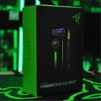 auriculares de juego razer al por mayor-Razer Hammerhead Pro V2 Auricular en el auricular con micrófono Con caja al por menor en el oído Auriculares para juegos Envío gratuito.