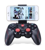 controladores de juegos de android al por mayor-2018 S5 Controlador de juegos inalámbrico Bluetooth Gamepad para Iphone IOS para Android y para IOS Platform 2.3 Cell Phone, tableta para teléfono inteligente