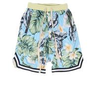 пляжные брюки оптовых-Джастин Бибер туман страх перед Богом коллекция 3D растения цветочные шорты работает дышащий короткие стрейч пот бегун шорты случайные пляж брюки