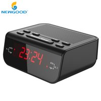 Wholesale Buzzer Led - FM Radio Player Compact Digital Alarm Clock FM Radio with Dual Alarm Buzzer Snooze Sleep Red LED Time Display Home Desk Clock