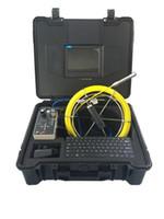cámaras de video alcantarillado al por mayor-Cámara video de la inspección de la mini alcantarilla de Vicam 16m m cámara del tubo de la caña de empuje del cable de los 30m con la caja de control de DVR y la función del teclado