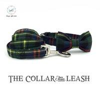 Wholesale Dog Gentleman - the green gentleman dog or cat collar with bowtie set and pet leash personal custom pet designer product dog &cat collar