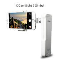 мобильное видео iphone оптовых-Оптовая X-Cam прицел 2 оси смартфон ручной бесщеточный карданный стабилизатор видео Мобильный стабилизирующий Steadycam для iPhone Samsung