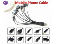 usb multi charge cable venda por atacado-Um Arraste Dez Telefone Cabo Micro USB Multi-função USB Linha de Telefone Móvel Universal Linha Preta 20 cm Cabo de Carregamento Dez-em-um No4