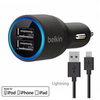iphone araba kablosu toptan satış-BK Çift USB Araç Şarj 2 Port mini Şarj / Sync Kablosu Yıldırım Mikro USB Tip C IPhone Samsung HTC LG Için